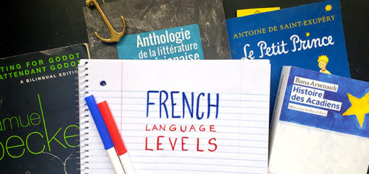 "The words ""French Langauge Levels"" written on paper"