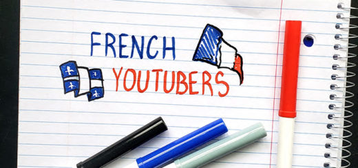 """The words """"French Youtubers"""" doodled onto a notebook with markers"""