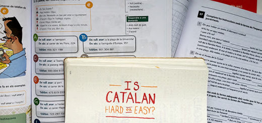 "A paper with the words ""is Catalan hard or easy to learn"" written on it"