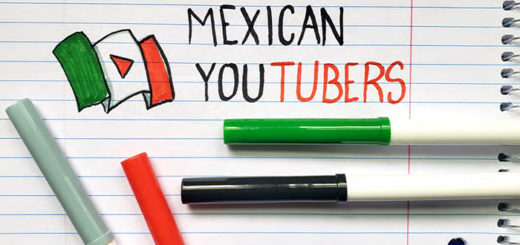 The words Mexican YouTubers drawn on paper