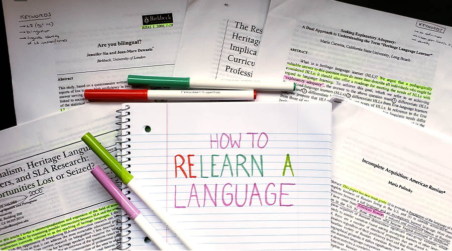 How to relearn a language