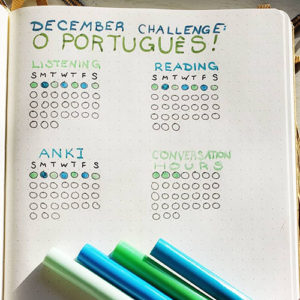 A habit tracker for learning Portuguese