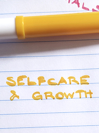 Online language exchange topics about self-care and growth