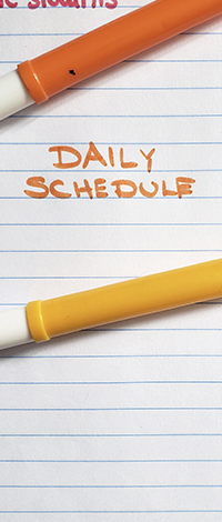 Language exchange topics about daily schedules