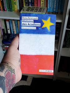 Cover of the French history book Histoire des Acadiens