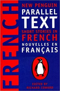 """The cover of the French book New Penguin Parallel Text Short Stories in French"""""""