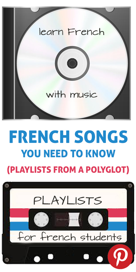 The pinterest flag for French songs, musicians, and artists