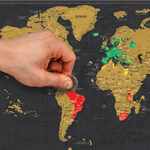 Scratch map gifts for travel lovers