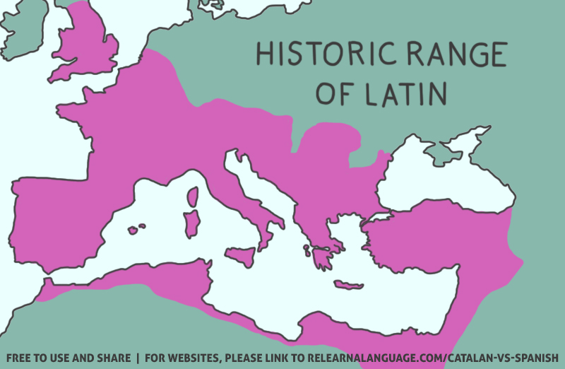 A map of the historic range of Latin