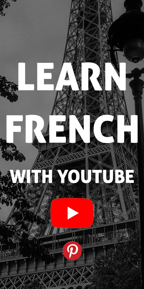 Learn French with YouTube pinterest flag