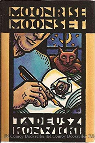 Cover of the bilingual English Polish book Moonrise Moonset