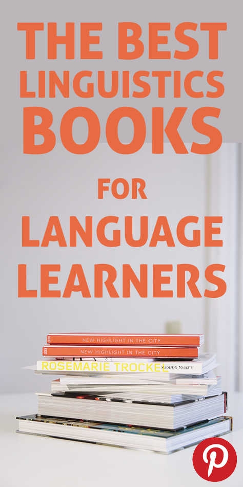 The pinterest flag image for best linguistics book for language learners