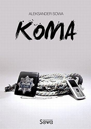 Cover of the bilingual Polish English book Koma