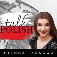 "The cover of the podcast ""Talk Polish"""