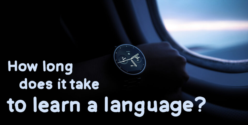 how long does it take to learn a language