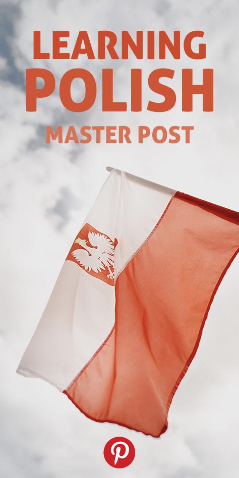 Pinterest flag image for Learning Polish master post