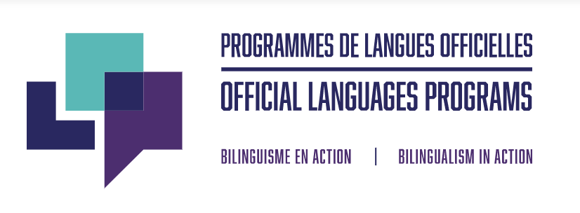 Logo for the Canadian government's official languages program