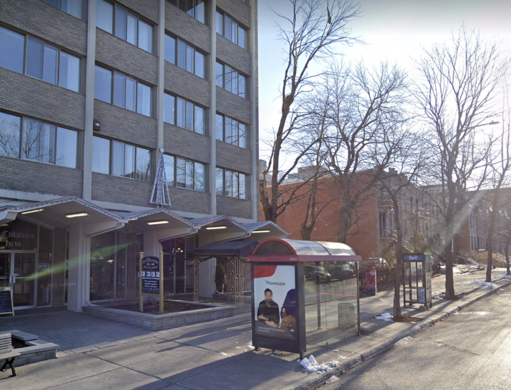 """Exterior of """"The French School"""" Montreal"""